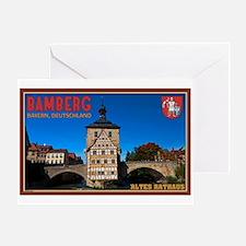 Bamberg Altes Rathaus L Greeting Card