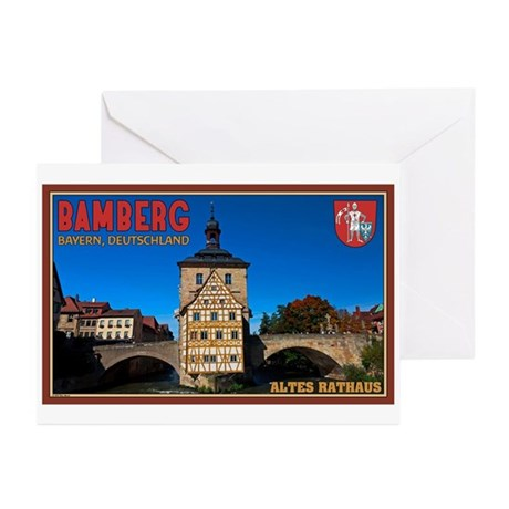 Bamberg Altes Rathaus L Greeting Cards (Pk of 20)