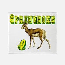 Springboks Rugby Throw Blanket