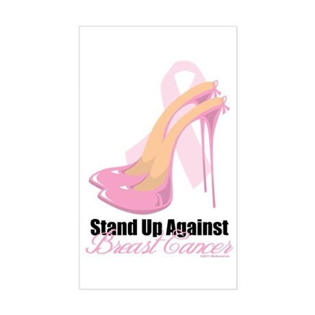 Stand Up Against Breast Cance Sticker (Rectangle)
