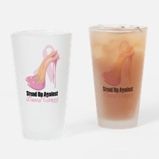 Stand Up Against Breast Cance Drinking Glass