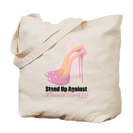 Stand Up Against Breast Cance Tote Bag