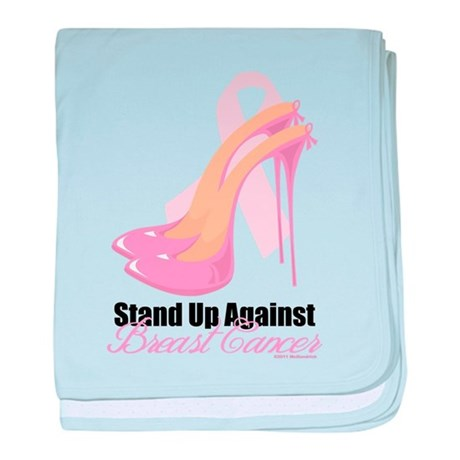 Stand Up Against Breast Cance baby blanket