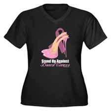 Stand Up Against Breast Cance Women's Plus Size V-