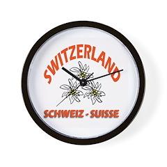 Edelweiss of Switzerland Wall Clock