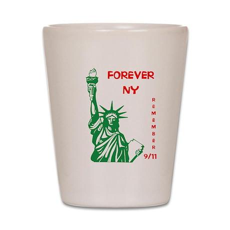REMEMBER 9/11 Shot Glass