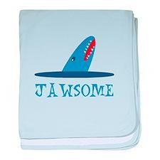 Jawsome Shark baby blanket