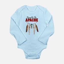 Proud to be Apache Long Sleeve Infant Bodysuit