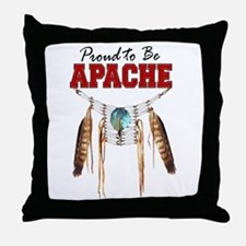 Proud to be Apache Throw Pillow