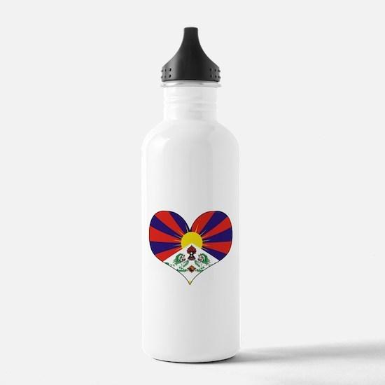 tibet's heart Water Bottle