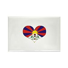 tibet's heart Rectangle Magnet