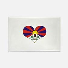 tibet's heart Rectangle Magnet