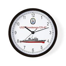 USS Ticonderoga CG-47 Wall Clock