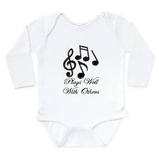 Take Note Long Sleeve Infant Bodysuit