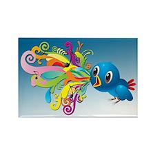Tweet Music Rectangle Magnet