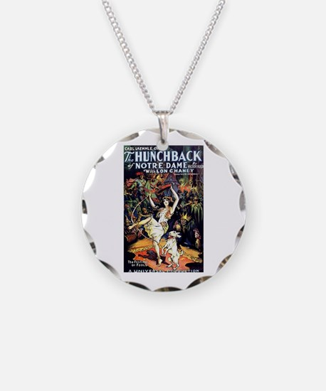 Hunchback of Notre Dame Necklace Circle Charm