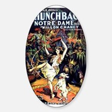 Hunchback of Notre Dame Sticker (Oval)