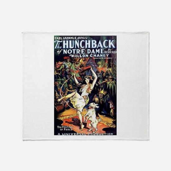 Hunchback of Notre Dame Throw Blanket