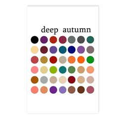 color analysis cards (Pack of 8) deep autumn