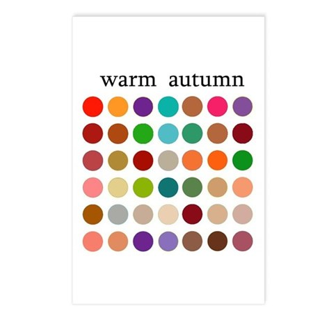 color analysis cards (Pack of 8) warm autumn