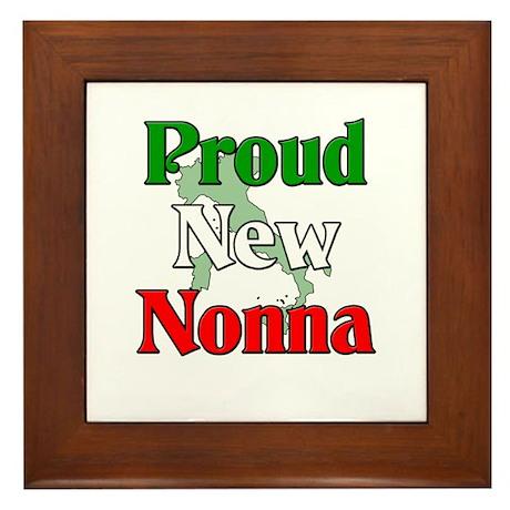 Proud New Nonna Framed Tile