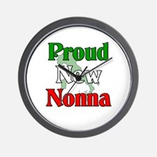 Proud New Nonna Wall Clock