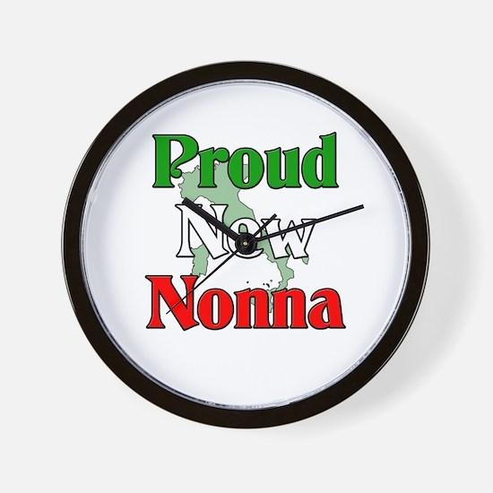 Proud New Nonna Wall Clock