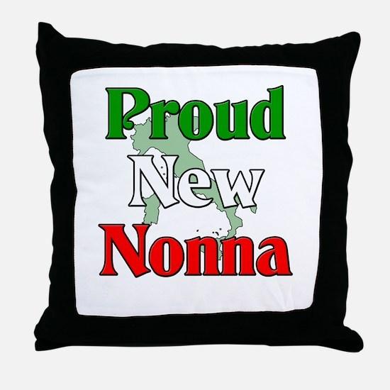 Proud New Nonna Throw Pillow