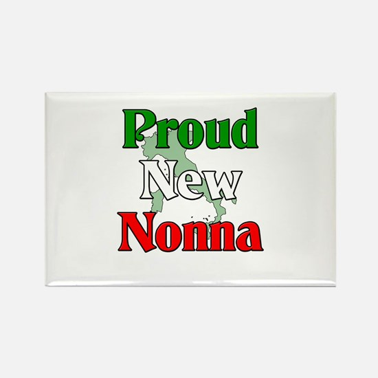 Proud New Nonna Rectangle Magnet