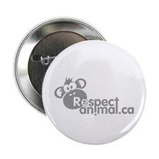 "RESPECT ANIMAL LOGO - 2.25"" Button"
