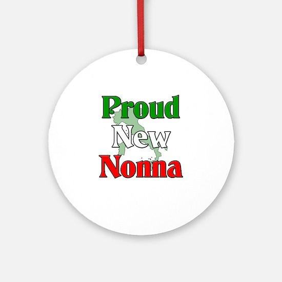 Proud New Nonna Ornament (Round)