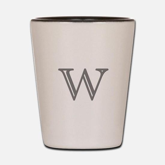 Letter W Shot Glass