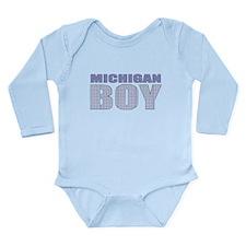 Michigan Boy Long Sleeve Infant Bodysuit