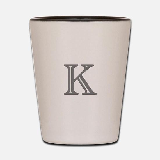 Letter K Shot Glass
