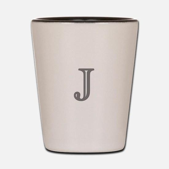 Letter J Shot Glass