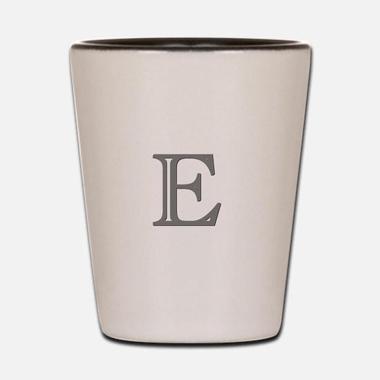 Letter E Shot Glass