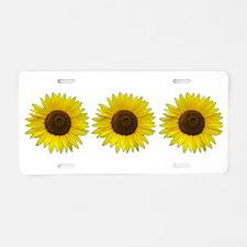 Helaine's Sunflower Aluminum License Plate