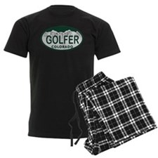 Golfer Colo License Plate Pajamas