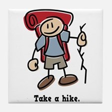 Cute Take a Hike Tile Coaster