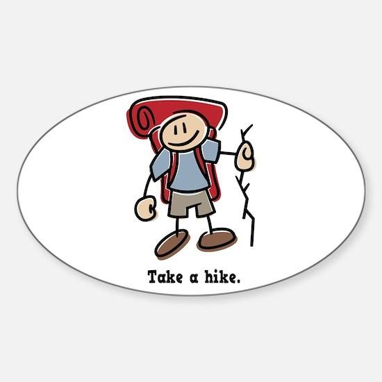 Cute Take a Hike Sticker (Oval)