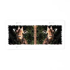 Helaine's Smiling Giraffe Aluminum License Plate