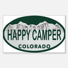 Happy Camper Colo License Plate Decal