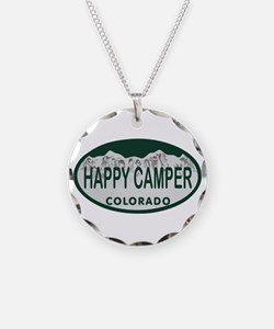 Happy Camper Colo License Plate Necklace