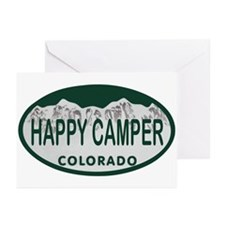 Happy Camper Colo License Plate Greeting Cards (Pk