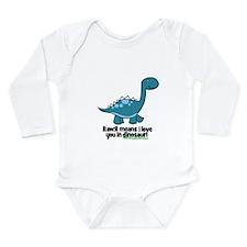 Dinosaur Long Sleeve Infant Bodysuit