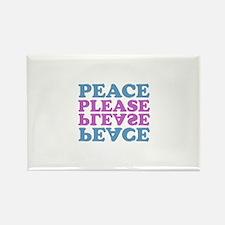 peace please (blue/pink) Rectangle Magnet