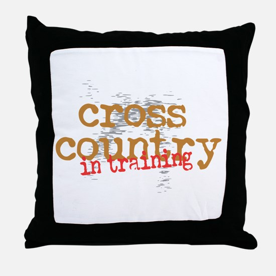 Cross Country Training Throw Pillow