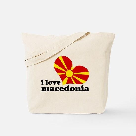 i love macedonia Tote Bag
