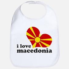 i love macedonia Bib