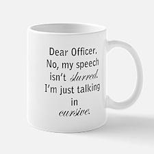 Cursive Speech Mug